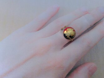 大円二色七宝金箔指輪の画像