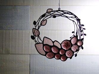 ガラスのリース [葡萄色]の画像