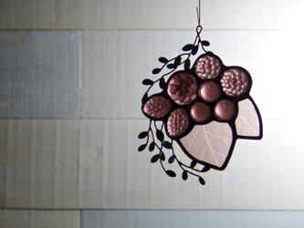 ガラスのスワッグ [葡萄色]の画像