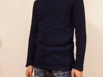 藍染 長袖カットソー size3の画像