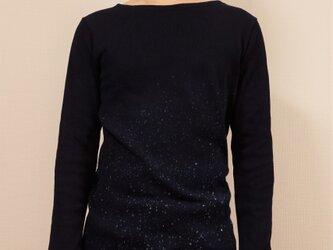 藍染 長袖カットソー 星空 size3の画像