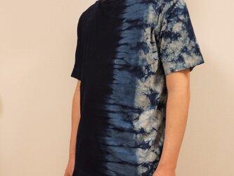 藍染 Tシャツ グラデむらくも size3の画像