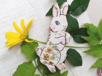 黄色のお花ウサギちゃん たっちの画像