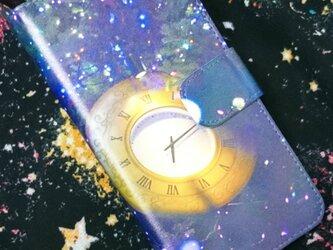 全機種対応 手帳型スマホケース *宇宙時計*の画像