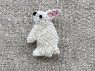 シロウサギ*ブローチの画像