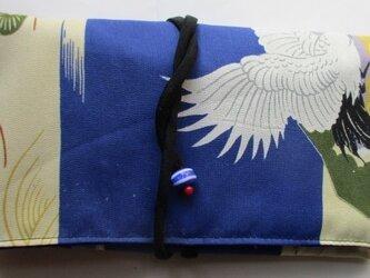 送料無料 男の子の正絹のお宮参り着で作った和風財布・ポーチ3024の画像