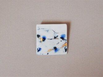 磁器ブローチ feeling blue square-3の画像