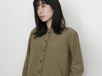 <<ヨモギ染め>>コーデュロイシャツ 8714-01001-48の画像