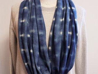 藍染 ウール100%スヌード 蛍の画像