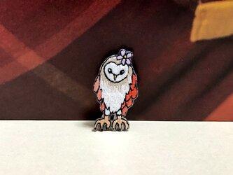 手刺繍ブローチ*メンフクロウの画像