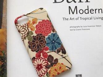 【 KIMONO】 希少!アンティーク着物のiPhoneケース(カラフル菊に観世水)の画像