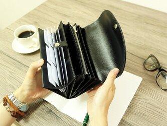 使いやすい長財布 【ベーシック Pat.Origin ブラック】 国産レザー 革 日本製 メンズ レディースの画像