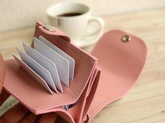 マネークリップ 小さい財布 【ベーシック Pat.mini ピンク】 国産レザー 日本製 メンズ レディースの画像