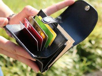 マネークリップ 小さい財布 【ベーシック Pat.mini ブラック】 国産レザー 日本製 メンズ レディースの画像