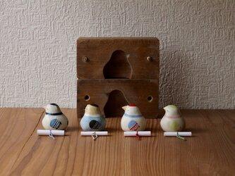 【神無月・新作】伝書鳩(若葉) ※受注制作 / 国産ヒノキの木箱入りの画像