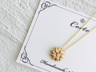 小ぶり vint-flower ネックレスの画像