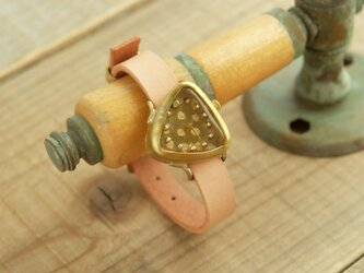 【受注生産】さんかくのゆらぎの時計 TR dot gold_f Y005_fの画像