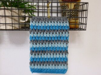 毛糸のふっくら鍋つかみ の画像