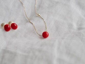 Red Coral necklace K10の画像