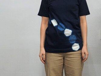 藍染 Tシャツ 六角 size1の画像