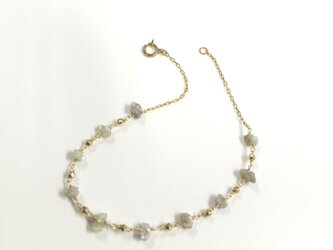 K 10 diamond station braceletの画像