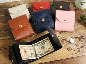 *選べる7色* マネークリップ 小さい財布 【ベーシック Pat.mini】 国産レザー 日本製 メンズ レディースの画像