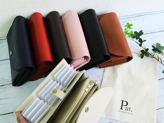 *選べる7色* 使いやすい長財布 【ベーシック Pat.Origin】 国産レザー 革 日本製 メンズ レディースの画像