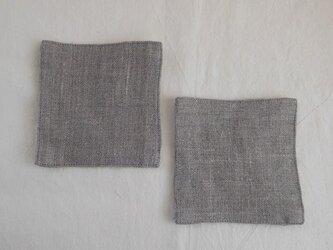 リネン コースター 2枚セットの画像