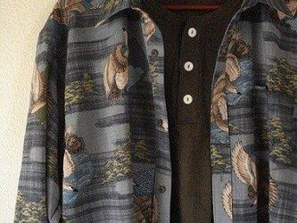襦袢地のメンズシャツ(鷹) の画像