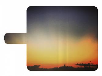 全機種対応 手帳型スマホケース *夕日*の画像