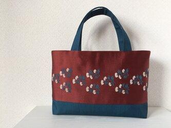 帯バッグ〜白い小花〜の画像