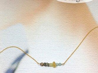 5種の天然石ネックレス14kgfの画像