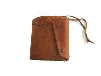half wallet ブラウンワイルドの画像