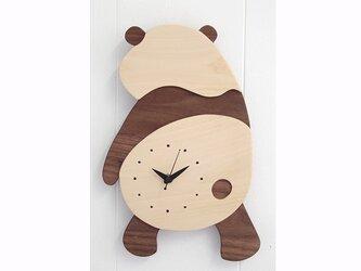 時計 パンダ 後ろ向きの画像