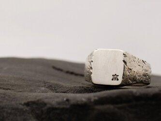 Signet Ring Stone Stomp/ 印台シルバー リング ストーン スタンプワークの画像