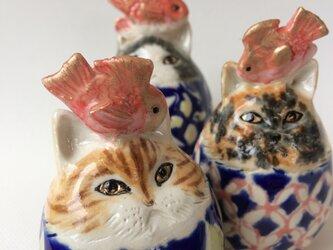 鯛のせ卵猫トリオ(再販)の画像