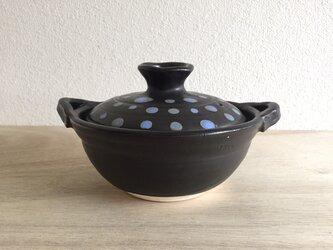 土鍋 1人用 水玉【直火対応】の画像