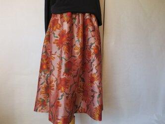 銘仙のギャザーフレアースカートの画像
