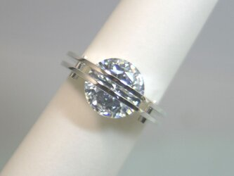 The Parallel Lines Ring Silver CubicZirconia【受注制作】の画像