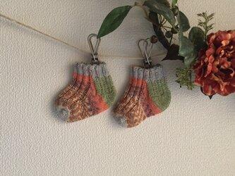 ★☆手編みのベビー靴下(洗濯機で洗えます♪)☆★の画像