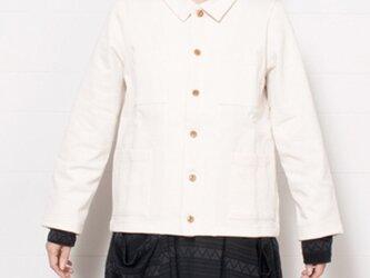 【再入荷】O-0002 吊り天竺シャツジャケット キナリ  サイズ1の画像