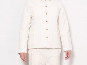 【再入荷】O-0002 吊り天竺シャツジャケット キナリ  サイズ3の画像