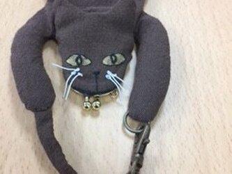 小さながま口の猫マスコットの画像