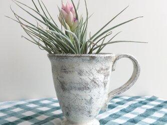 nacchico#014/引っ掻いたり削ったりして古びたような風合いを出しました*カップ型の花器・花びんの画像
