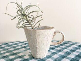 nacchico#017/八角形の面取りデザイン*優しい雰囲気のカップ型花器の画像
