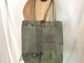 tote bag/ヴィンテージ カシミアマフラーのトートバッグ    ■tf-301の画像