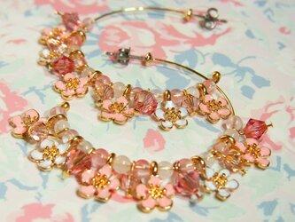 cherry blossomシリーズ*桜フープピアスの画像