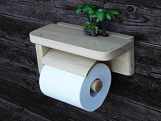 木製トイレットペーパーホルダーVer.5s(ナチュラル)の画像