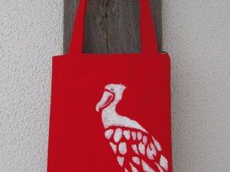 ランチタイムバッグ あしながハシビロコウの画像