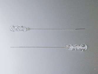 Round Chain Earring long SVの画像